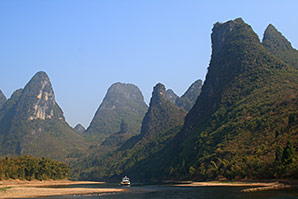 karstlandschaft am li-fluss, guilin, guangxi, china, © birgit gilsenbach